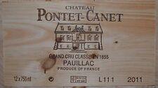 Château pontet canet 2011, grand cru classé pauillac - 95 points J. suckling