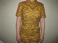 ADIDAS ORIGINALS ObyO JEREMY SCOTT ANIMAL JUMPSUIT Dress Jukebox Tiger Leopard