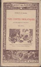 BALZAC LES CONTES DROLATIQUES LE SOLLAZZEVOLI HISTOIRE PRIMA DECINA 1920 LIBRO