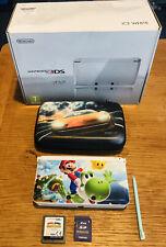 Nintendo 3DS Ice White Handheld System customised Bundle Mario Game Immaculate