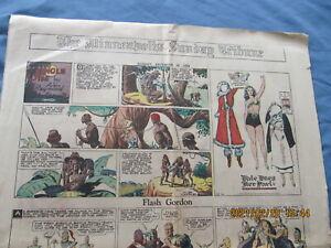 MINNEAPOLIS COMIC SECTION SUNDAY 1934 FLASH GORDON