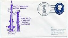 1966 Cape Canaveral Missile Range Titan III-C Military Satellite NASA