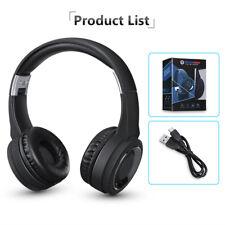 Pliable Bluetooth Casque Ecouteur 3.5MM HD Musique Stéréo + Micro FM MP3 SD NEU