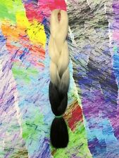 BLONDE BLACK TRANSITIONAL KANEKALON JUMBO BRAID DREADS OMBRE HAIR