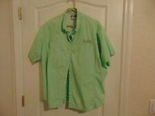 Women's Columbia Sportswear Co Green Cotton Fishing Shirt-3XL