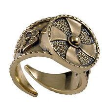 Handgefertigte Bronze Wikinger Krieger Helm Gjermundbu Jormungand Drachen Ring