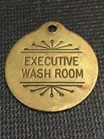 Token, Executive Washroom, Solid Brass Collectable Coin T01