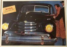 RARE Framed Poster Opel Kapitan 1951 Not-for-Sale JAPAN Ex-dealer YANASE LTD