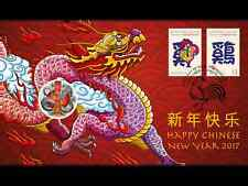 2017 Lunar Year Dragon $1 Coin - PNC Stamp & Coin Cover