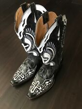 JB Dillon Cowboy Boots In All Leather Mens Size 9 EE Wide
