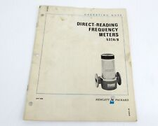 H/P 532A/B Direct Reading Frequency Meters Operating Note