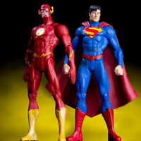 2PCS DC The Flash Superman Action Figure Justice League Hero PVC Toy Collection
