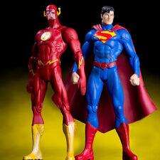 2PCS DC The Flash Superman Action Figure Justice League Hero PVC Toy Collection
