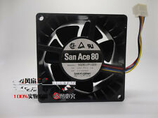1 PCS Used SANYO Fan 9G0812P1G09 DC 12V 1.1A  4 Pin 80x80x38mm