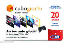 CUBO GIOCHI  RICARICA TIM TI BASTA UN CLIK  20 EURO