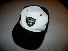 Oakland Raiders White/Black Hat Vintage Sports Specialties YA Hat Large Snapback