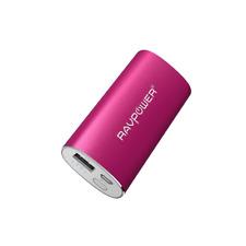RAVPower 6700mAh 2.4A Ausgang iSmart Externer Akku Pack Powerbank USB Rosa