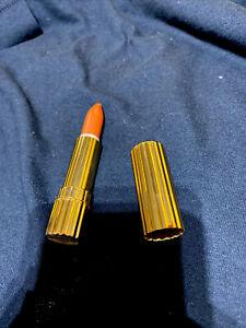 "VINTAGE All Day Estee Lauder N Y "" Ancient Brick 29 Lipstick GOLD tone Tin Tube"