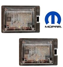 For Dodge Durango 14-18 Pair Set of 2 Rear License Plate Led Lamp Lense Mopar