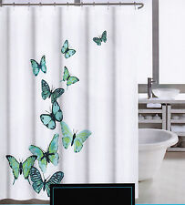 Cynthia Rowley Shower Curtain Vendetta Butterfly Blues White - NEW