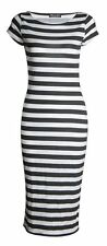 WOMEN'S CAP SLEEVE POLKA DOT BODYCON STRETCH JERSEY MIDI DRESS PLUS SIZE 8-26