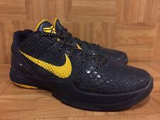 RARE🔥 Nike Zoom Kobe VI 6 Imperial Purple Del Sol Yellow 429659-501 Sz 13