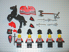 NEW LEGO Minifigure Castle Red dragon armor Knight black horse figure 70402 400
