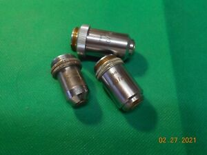 MICROSCOPE OBJECTIVES LOT LEITZ