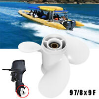 9 7/8 x 9 F Aluminium 3 Blades Right Propeller Outboard for Yamaha 20 25 30 HP