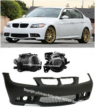 M3 Style Front Bumper Cover Projector Fog Lamp For 06-08 BMW E90 3-Series NO PDC