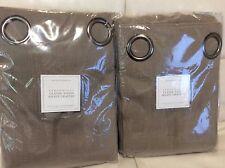 Restoration Hardware 2 Perennials Drapes Grommet Classic Linen Weave 50x84 Mocha