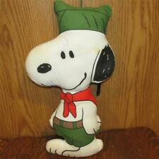 """VINTAGE 1958 UNITED SYNDICATE SNOOPY IN BOY SCOUT UNIFORM PILLOW 18"""" 2e2"""