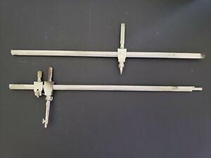 "VINTAGE BRUNING GERMANY BEAM COMPASS - 20"" long Mechanical Radius"
