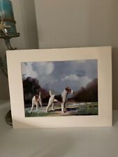 Wire Haired Fox Terrier Dog Print 1930 Dogs by Ward Binks Vintage Prnt Matted