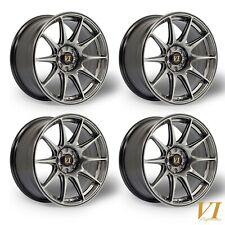 """4 x ViP BDR CONCAVE H Black 17"""" x 8.25"""" 4x108 et30 alloys Ford Fiesta Sierra"""