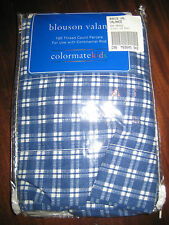 Colormatekids Blouson Valance Blue White Check I Love Trucks New Clearance Sale