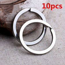 10X Key Rings Key Chain Split O-Rings Silver Nickel-Plated Bag Parts Accessories
