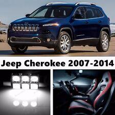 14pcs LED Xenon White Light Interior Package Kit for Jeep Cherokee 2007-2014
