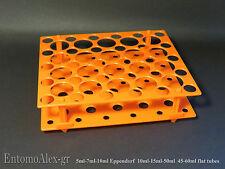 rack holder vassoio portaprovette per eppendorf 5-7-10ml + provette 10-15-50ml