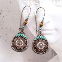 Women Vintage Boho India Ethnic Water Drip Hanging Dangle Drop Earrings Jewelry!
