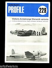 Aircraft Profile # 229 - VICKERS-ARMSTRONG WARWICK variants ( RAF Bomber )