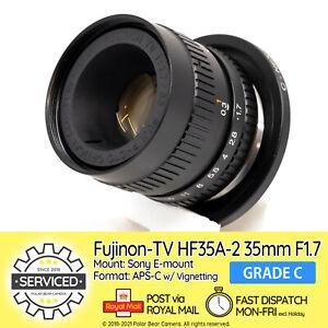 ⭐SERVICED⭐ Fujinon TV 35mm F1.7 Sony E-mount w/ Infinity Focus + Caps [GRADE C]