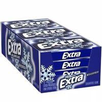 WRIGLEY'S EXTRA WINTERFRESH Sugar Free Gum 12-(15) Stick Packs=180 Sticks FRESH