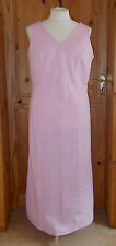 COTTON TRADERS pastel pale pink stripe cotton long maxi summer holiday dress 20