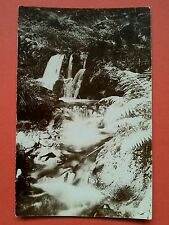 RP T H Midwood Dhoon Glen waterfalls Ramsey Isle of Man IOM Manx real photo