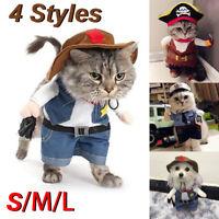 Cowboy Pet Cosplay Costume Dog Cat Puppy Coat Clothes Apparel Warm Suit  DIY