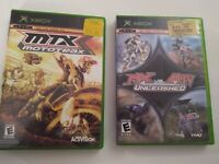 MTX: Mototrax Mx VS ATV Unleashed Original Xbox Lot Set X Games Extreme Sports