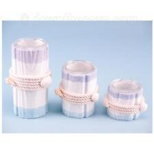 Rustic Tealight Holders - 3 Shabby Chic Tea Light Holder Set - Nautical Decor