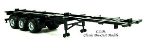 40' Black 3 Axle Container Chassis HO 1/87 Scale Promotex/Herpa 5315
