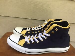 Converse Canvas High Tops Men's Chuck Taylor All Star Blue/Yellow Size  13